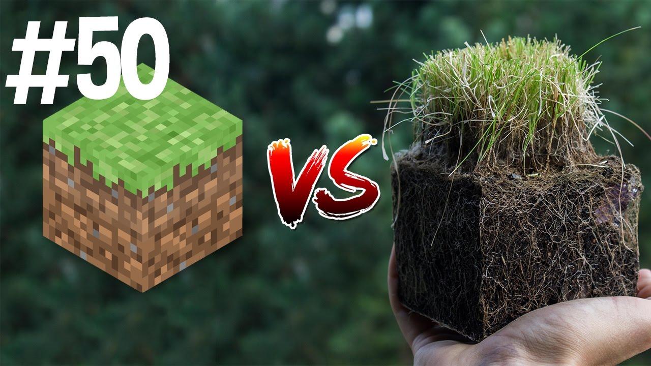 Minecraft Vs Real Life 50 YouTube