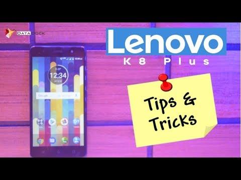 Lenovo K8 Plus Tips & Tricks   Benchmarks,Sensors,OTG,Special Features   Data Dock