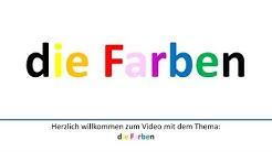 Die Farben auf Deutsch/Colors in German