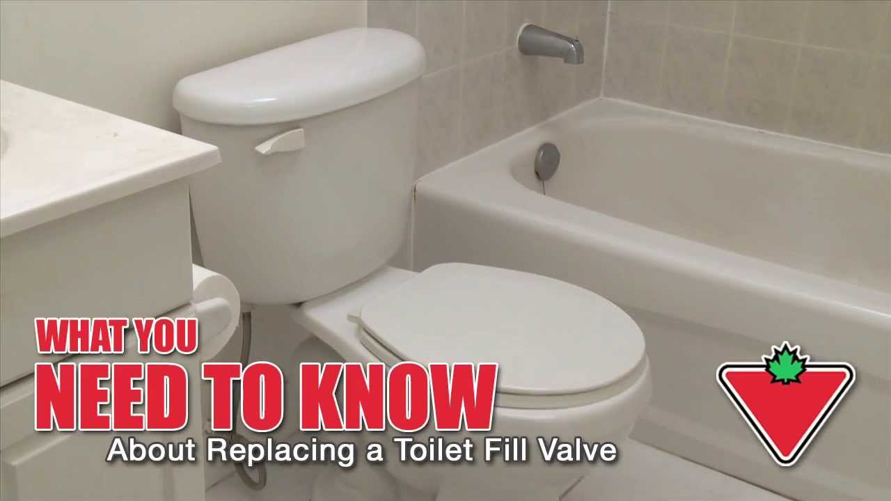 how to replace a toilet fill valve youtube. Black Bedroom Furniture Sets. Home Design Ideas