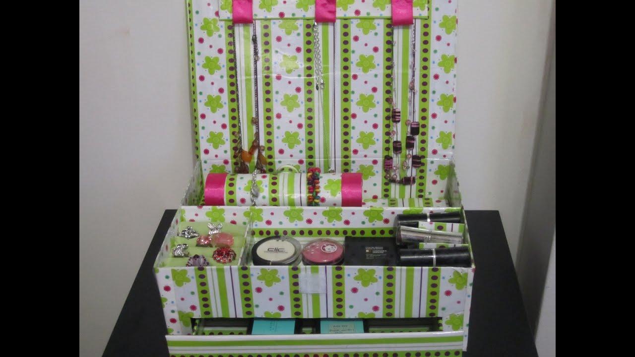 Organizador De Baño Con Material Reciclado:organizador para accesorios y cosmeticos – YouTube