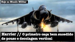 Harrier, o primeiro caça bem sucedido de pouso e decolagem vertical