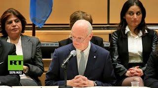 La segunda jornada de consultas sirias transcurre con la mediación del enviado especial de la ONU