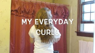 Quick and Easy Everyday Curls for School