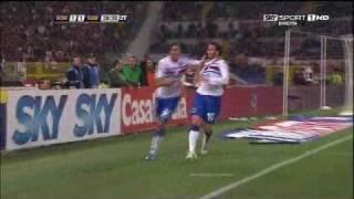 Roma vs Sampdoria 1-2, Pazzini regala lo Scudetto all'Inter!