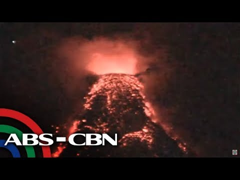 LOOK: Lava Flow From Mayon Clearly Visible Following Days Of Cloudy Weather