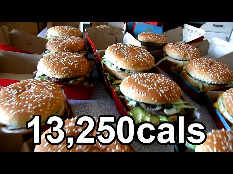 Eating 25 Big Macs in One Sitting (Previous World Record)