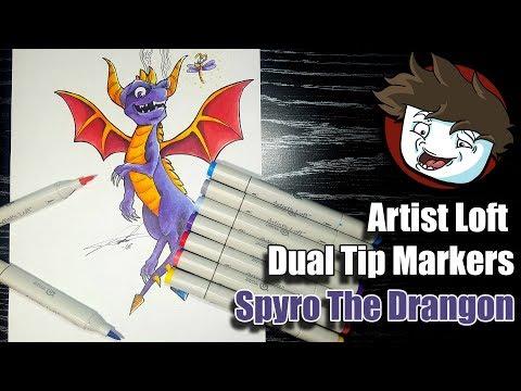 Cheap Artist Loft Sketch Markers Review (Blenders) | Spyro The Dragon