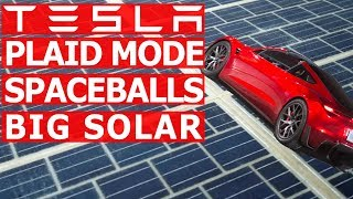 Tesla Roadster Plaid & Spaceballs Mode, Big Solar, and Porche Taycan vs Model S