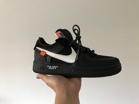 Off White Air Force 1 Black (Unboxing+Flaws+On Feet) from Footskicks.co