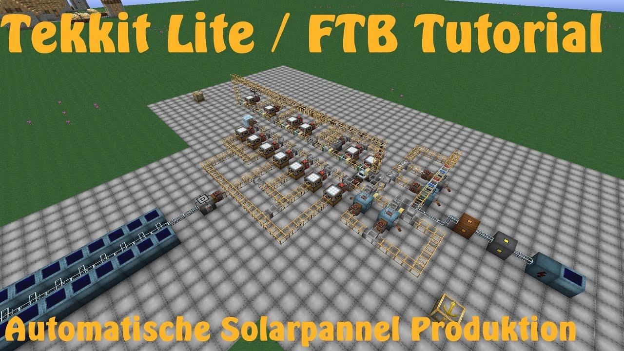 Automatische Solarpannel Produktion Tekkit Lite Ftb