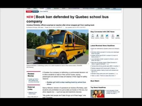 Students Banned from READING BOOKS on School Bus!