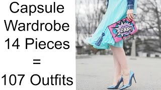 CAPSULE WARDROBE: 107 outfits with 14 pieces