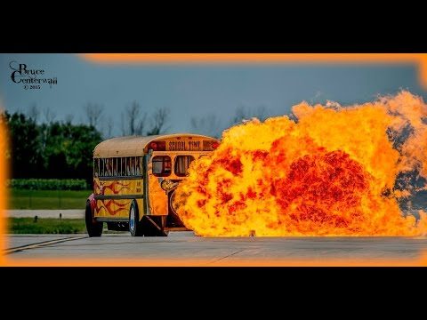 This is a 367-Mph Jet-Powered School Bus