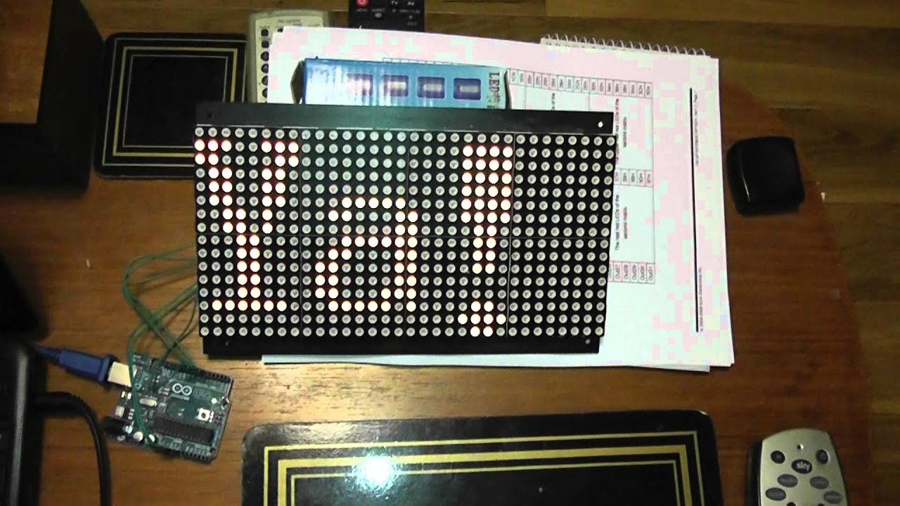 Arduino with sure led matrix display working