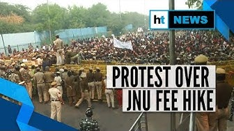 JNU protest: Students clash with cops, remove barricades; water cannons used