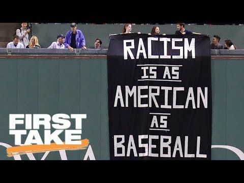 First Take reacts to anti-racism banner in Fenway Park | First Take | ESPN
