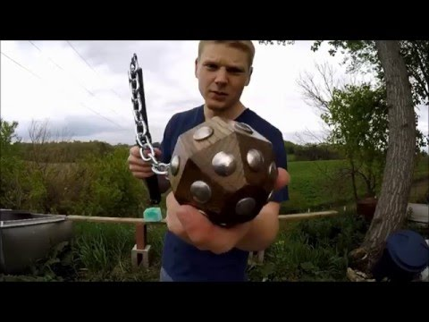 ball and chain flail weapons demonstration youtube