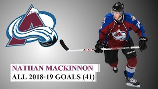 Nathan MacKinnon (#29) All 41 Goals of the 2018-19 NHL Season