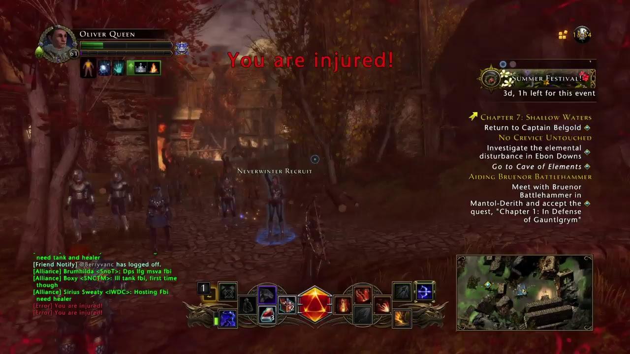 Neverwinter PS4 HR StormWarden Archery Gameplay - YouTube