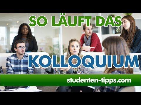 Kolloquium - Verteidigung Der Bachelorarbeit Und Masterarbeit - Wie Läuft Das Ab? Studenten-Tipps