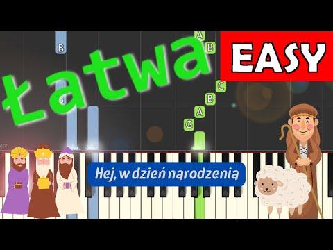 🎹 Hej, w dzień narodzenia - Piano Tutorial (łatwa wersja) 🎹
