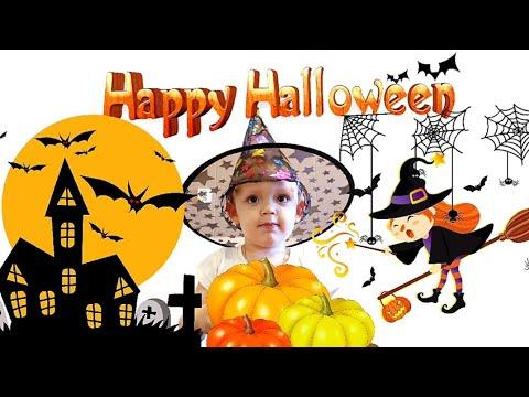 Веселая История на Хэллоуин детям Тема получил подарки