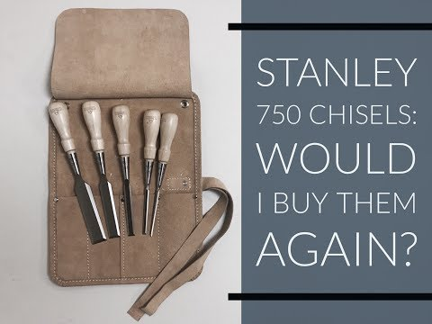 Stanley 750 Sweetheart Chisel Set 2018 Review and Tutorial