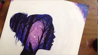 Galaxy Drawing || كيف ترسم المجرة