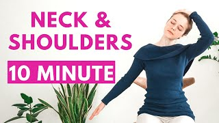 10 min YOGA STRETCH FOR NECK & SHOULDERS | Yoga Without Mat | Office Yoga Break