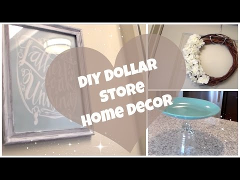 DIY Dollar Store Home Decor! | Cake Stand, Summer Wreath & Wall Art