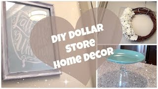 DIY Dollar Store Home Decor! | Cake Stand, Summer Wreath & Wall Art