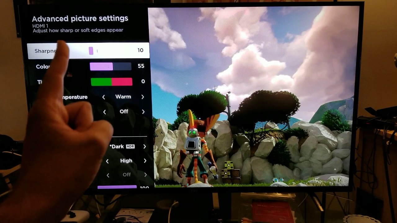 Ratchet & Clank : PS4 Pro 4K HDR Custom Calibration for TCL Roku TV 55p605