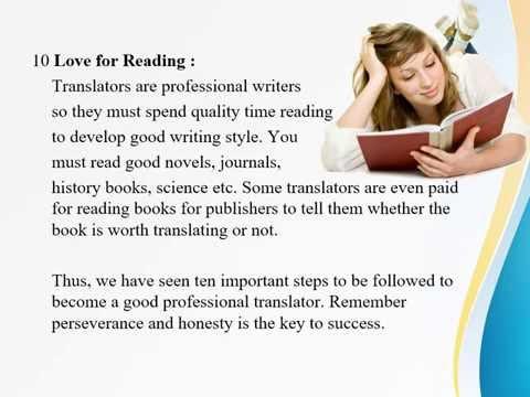 Skills of Professional Translators