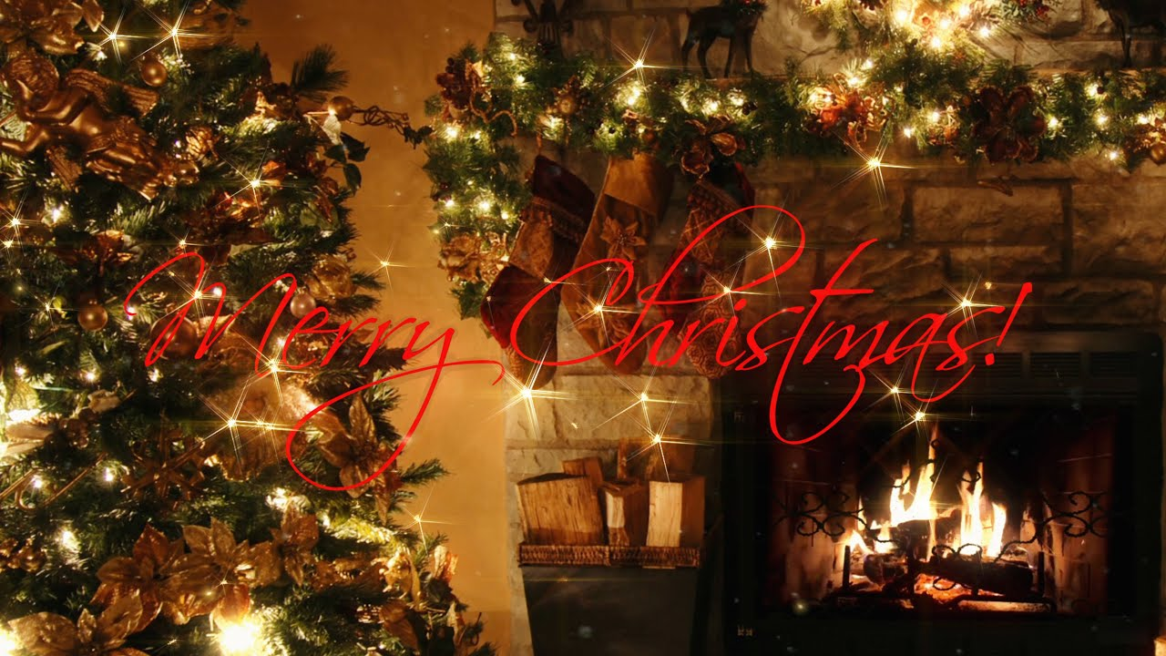Falling Snow Live Wallpaper For Pc Merry Christmas Christmas Tree With Fireplace Xmas Song