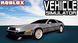 New DMC DELOREAN in VEHICLE SIMULATOR!! (Roblox)