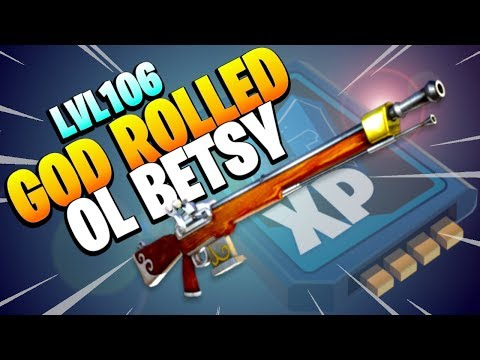 106 *GOD ROLLED* | OL BETSY | Best Sniper Rifle in fortnite Save the World