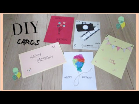 DIY Card Making ideas I Quick and Easy ideas for homemade – Card Making Birthday Card Ideas