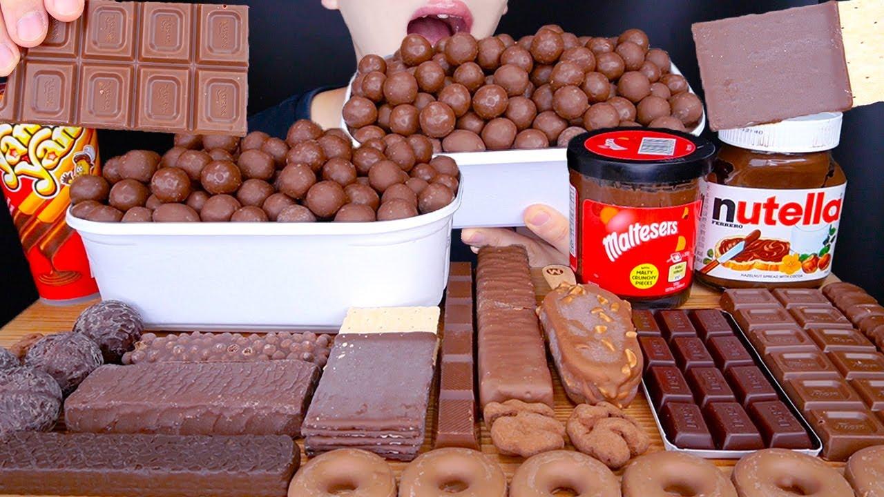 ASMR MALTESERS MAGNUM CHOCOLATE ICE CREAM DESSERT MUKBANG 몰티져스 초콜릿 아이스크림 먹방 チョコレート 咀嚼音 EATING SOUNDS