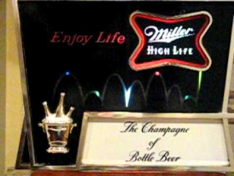 Vintage 1960s miller high life bouncing light sign youtube aloadofball Images