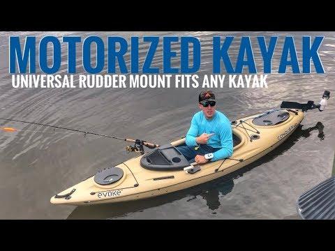 Motorized Kayak - Universal Rudder Mount Kit