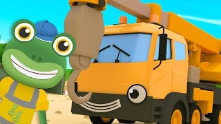 The Crane Meets Gecko - Gecko's Garage | Trucks For Kids | Construction Vehicles | Learning For Kids