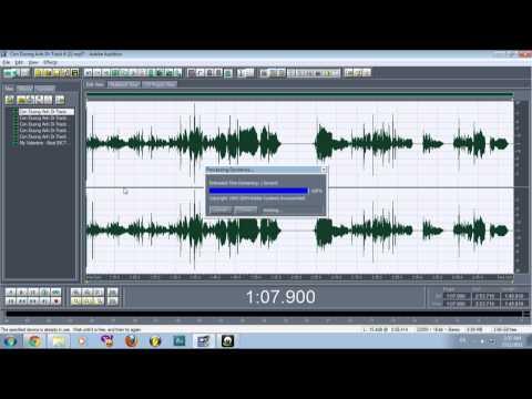 Hướng Dẫn Adobe Audition 1.5 - Mix for Mel by vethe2@gmail.com