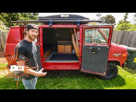 Amazing Simplistic Van Build For $1,500 ~ Van Life On A Budget