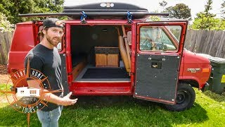 Amazing Simplistic Van Build For $1,500 ~ Van Life On A Budget