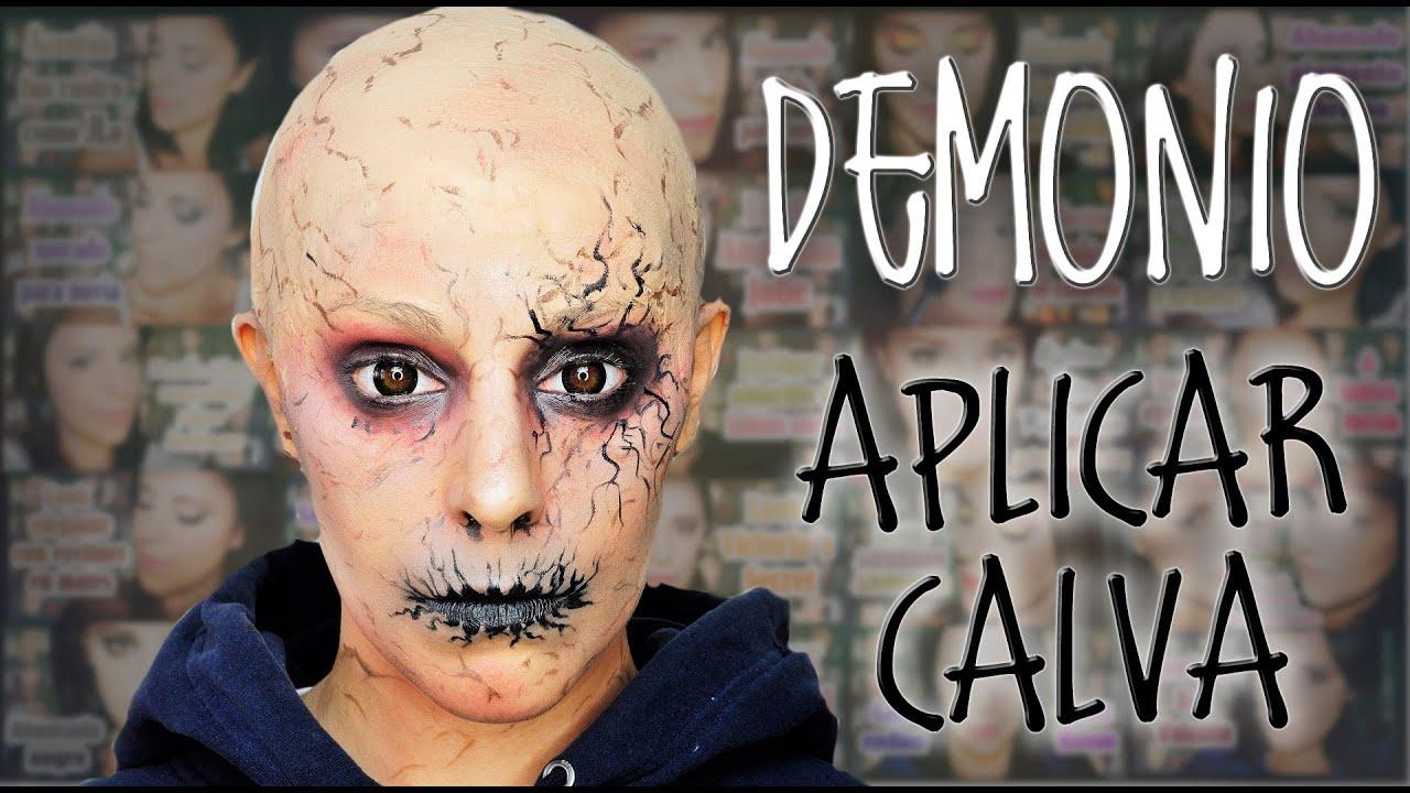 maquillaje demonio y como aplicar calva makeup fx 26 silvia quiros youtube - Maquillaje Demonio