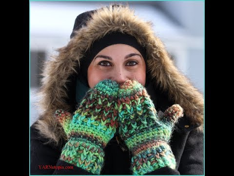 Crochet Tutorial: Nadia's Wonderfully Warm Mittens