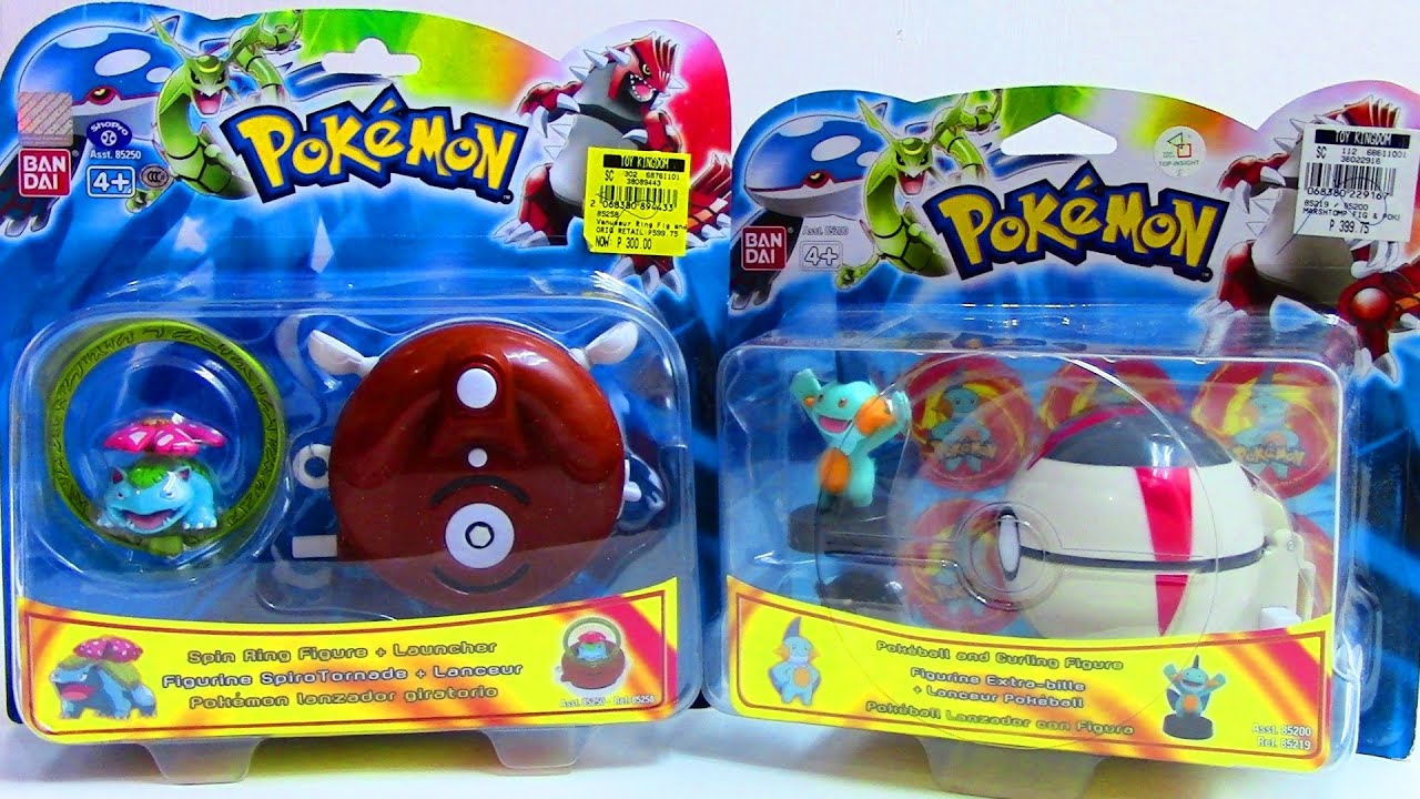 pokemon spin ring figure launcher pokemon pokeball and curling
