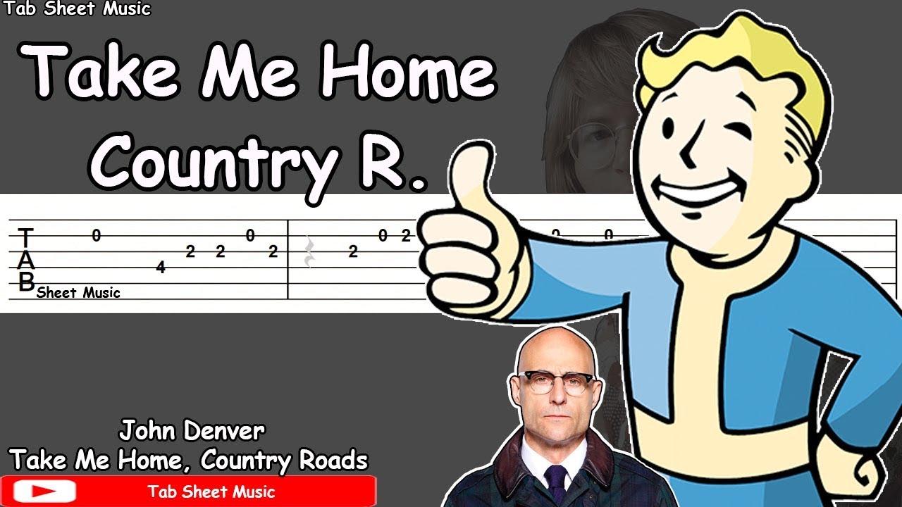 Take Me Home Country Roads Guitar Tutorial Fallout 76 Kingsman 2 Youtube