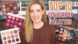 TOP 10 COLOURPOP PALETTES | SWATCHES & DUPES!